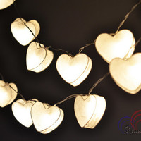 Romantic Lights Night Lights White Sweet Heart Hanging Lights for Bedroom Decoration 20 Lights/Set