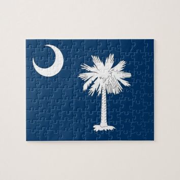 Puzzle with Flag of South Carolina State