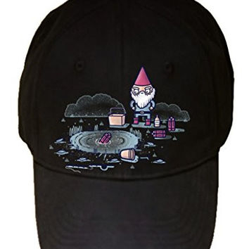 'I Hate Fishing' Gnome & Dynamite Humor - 100% Adjustable Cap Hat