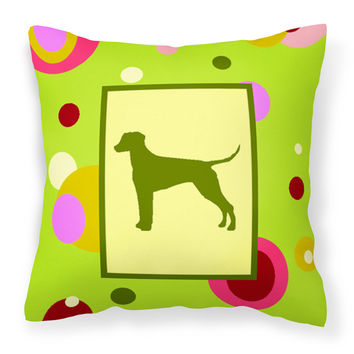 Lime Green Dots Dalmatian Fabric Decorative Pillow CK1127PW1414