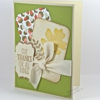 Give Thanks Handmade Fall Themed Thanksgiving Greeting Card