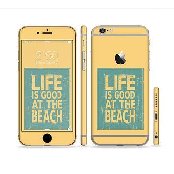 The Grungy Life Is Good At The Beach Sectioned Skin Series for the Apple iPhone 6