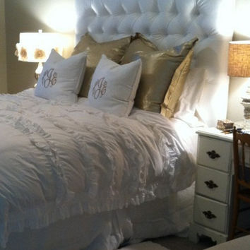 Custom Queen Headboard by houseofpemberley on Etsy