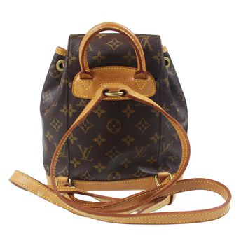 LOUIS VUITTON Mini Montsouris PM Backpack Bag Monogram Brown M51137 Auth #F279 W