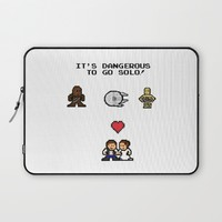 it's dangerous to go solo.. han and leia love Laptop Sleeve by Studiomarshallarts