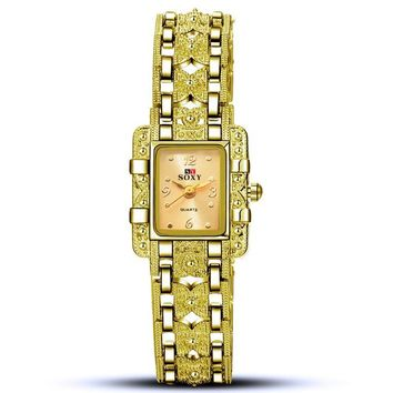 One-nice™ Ms bracelet watches - square watches Golden(golden face)
