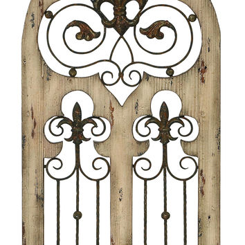 "Wood Metal Wall Decor  50""H, 24""W Wall Decor"