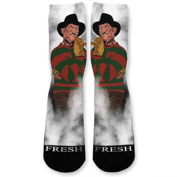 Freddy Halloween Custom Athletic Fresh Socks