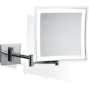 DWBA Touch Wall Cosmetic Makeup 5X LED Light Dimmer Magnifying Mirror, Chrome