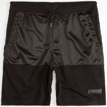 Elwood Mesh Block Mens Shorts Black  In Sizes