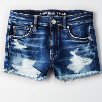 AE Denim X High-Waisted Shortie, Destroy Your Blues