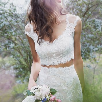 Willowby by Watters Jones Crop Top 57123 Bridal Seperates