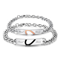 Gift Great Deal Hot Sale New Arrival Shiny Awesome Stylish Gifts Titanium Couple Classics Bracelet [9509265988]
