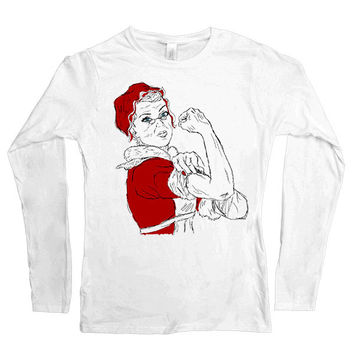 Ms. Claus the Riveter -- Women's Long-Sleeve