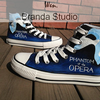The Phantom Of The Opera Inspired Studio Hand Painted Shoes 54Usd,Paint On Custom Converse Shoes Only 94Usd,Buy One Get One Phone Case Free