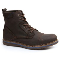 GBX Fane Men's Lace-Up Leather Boots (Brown)