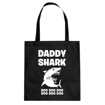 Daddy Shark Cotton Canvas Tote Bag