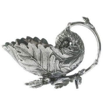 Acorn and Oak Leaf Pewter Gravy Boat