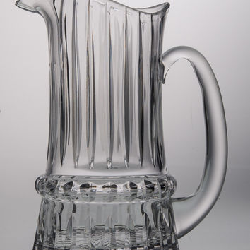 Majestic Gifts ST-162-N Hand Cut Crystal 44 oz. Pitcher