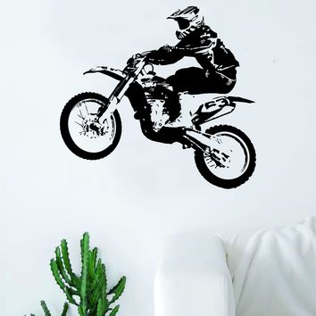 Real Dirtbiker Sports Decal Sticker Bedroom Living Room Wall Vinyl Art Home Decor Teen Nursery Sports Moto X Dirtbike Rider