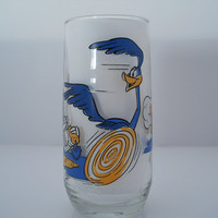 Road Runner Looney Tunes Pepsi Collector Series Glass Bugs Bunny Wil E Coyote c 1979