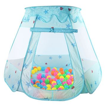 Portable Children's Ten Kids Play Tents Indoor Outdoor Play House Baby Ocean Ball Pit Pool Princess Tent for Girls Baby