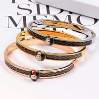 GUCCI High Quality New Fashion More Letter Women Men Personality Bracelet