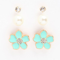 FLOWER EARRINGS SET