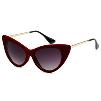 Red Velvet Cat Eye Sunglasses