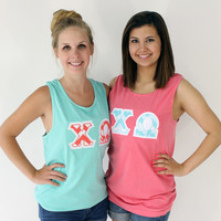 Sorority Greek Letter Comfort Colors Tank