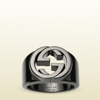 Gucci - silver ring with interlocking g 356214J84008195