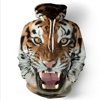 Hot fashion tiger hooded shirts men printed 3d hoodies Casual graphic hoodie funny Sweat shirt tie-dye Sweatshirt tops