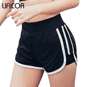Promotions Women Sport Fitness Shorts Curve Sport Running Yoga For Ladies Athletic Shorts Gym Clothes Sportswea Plus Size