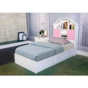 Luxurious Twin Size Chest Bed With 3 Storage Drawers, White Finish.