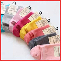 2016 autumn new 16PCS=8 pairs Socks high quality plain solid color candy color socks stockinets women's socks