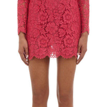 Guipure Lace Mini-Dress