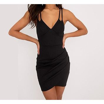 Amora Double-Strapped Cocktail Dress
