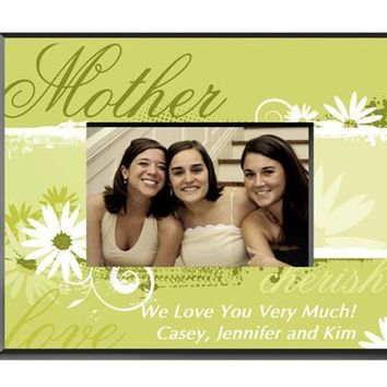 Free Engraving Delicate Daisy Mother Frame
