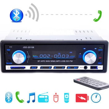 New 12V Car Stereo FM Radio MP3 Audio Player Support Bluetooth Phone with USB/SD MMC Port Car Electronics In-Dash 1 DIN