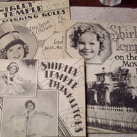 """Vintage Shirley Temple Book Set - 1936 - """"Twinkletoes"""", """"On the Movie Lot"""", and """"In Starring Roles"""" - Christmas Special"""