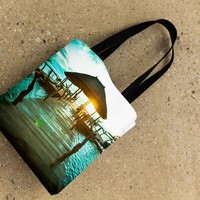 Sunrise Deck Tote Bag