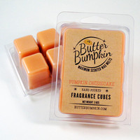 Pumpkin Cheesecake Scented Wax Melts - Maximum Fragrance Wax Cubes - Hearty Pumpkin Cream Cheese & Maple Aroma Candle Melts