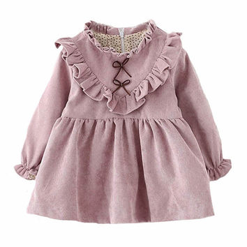 Toddler girl dress long sleeve 2016 autumn winter baby girls dresses fall fashion kids clothes brand toddler little girl dress