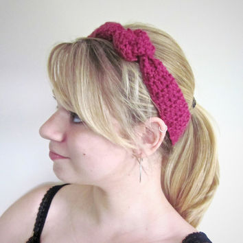 Crochet Headband The Outbound Headband in Pink by SalemStyle