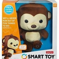 Fisher Price Monkey Smart Toy Play & Learn Kids WI-FI Talking Stuffed Animal New