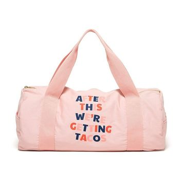Work It Out Gym Bag (After This We're Getting Tacos)