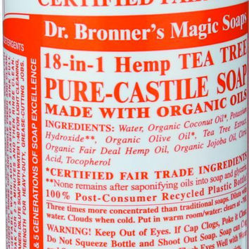 Dr. Bronner's Pure Castile Soap - Fair Trade And Organic - Liquid - 18 In 1 Hemp - Tea Tree - 16 Oz  10% Off Auto renew