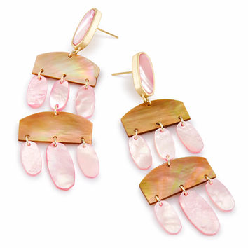 Emmet Statement Earrings in Blush Pearl | Kendra Scott