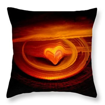 "Sunset Love Throw Pillow 14"" x 14"""
