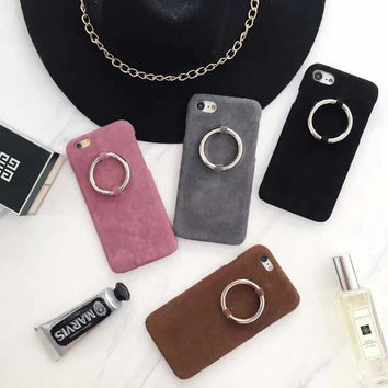 Personality ring flannelette phone case for iPhone 7 7plus 6 6S 6plus 6Splus 1110J01